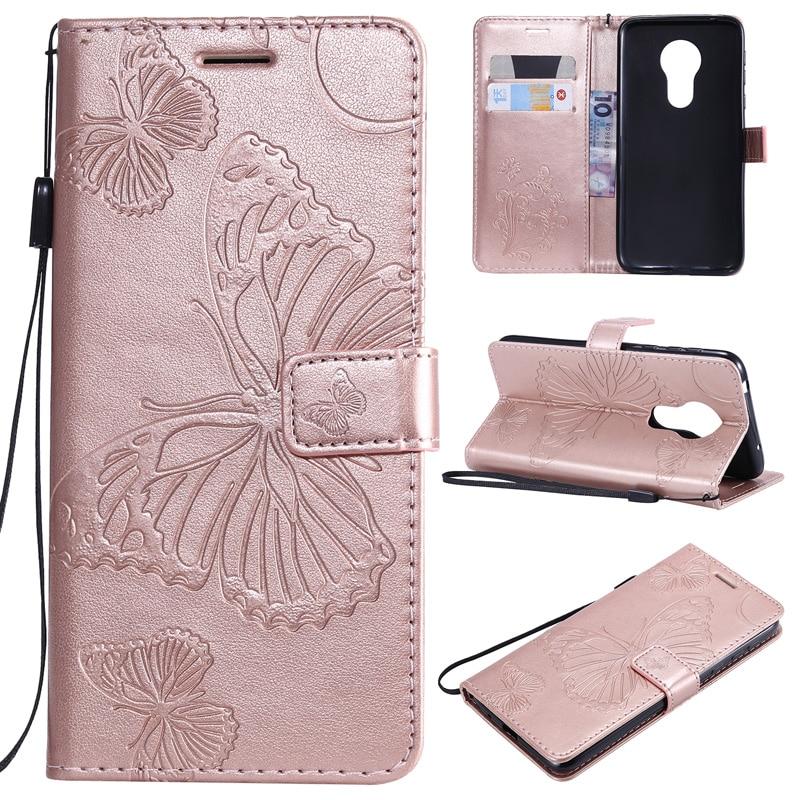 Butterfly PU Leather Flip Case For Motorola Moto G8 E6 E7 G7 G5 G5s Plus Power Play G6 Plus 2018 Play P40 One Macro Wallet Cover