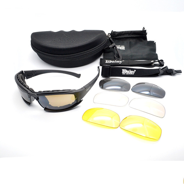 Sports Military Tactical Sunglasses Set with 4 Lenses