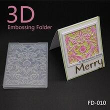 AZSG 2018 New Arrival 3D Flowers Leaves embossing plates Design DIY Paper Cutting Dies Scrapbooking Plastic Embossing Folder