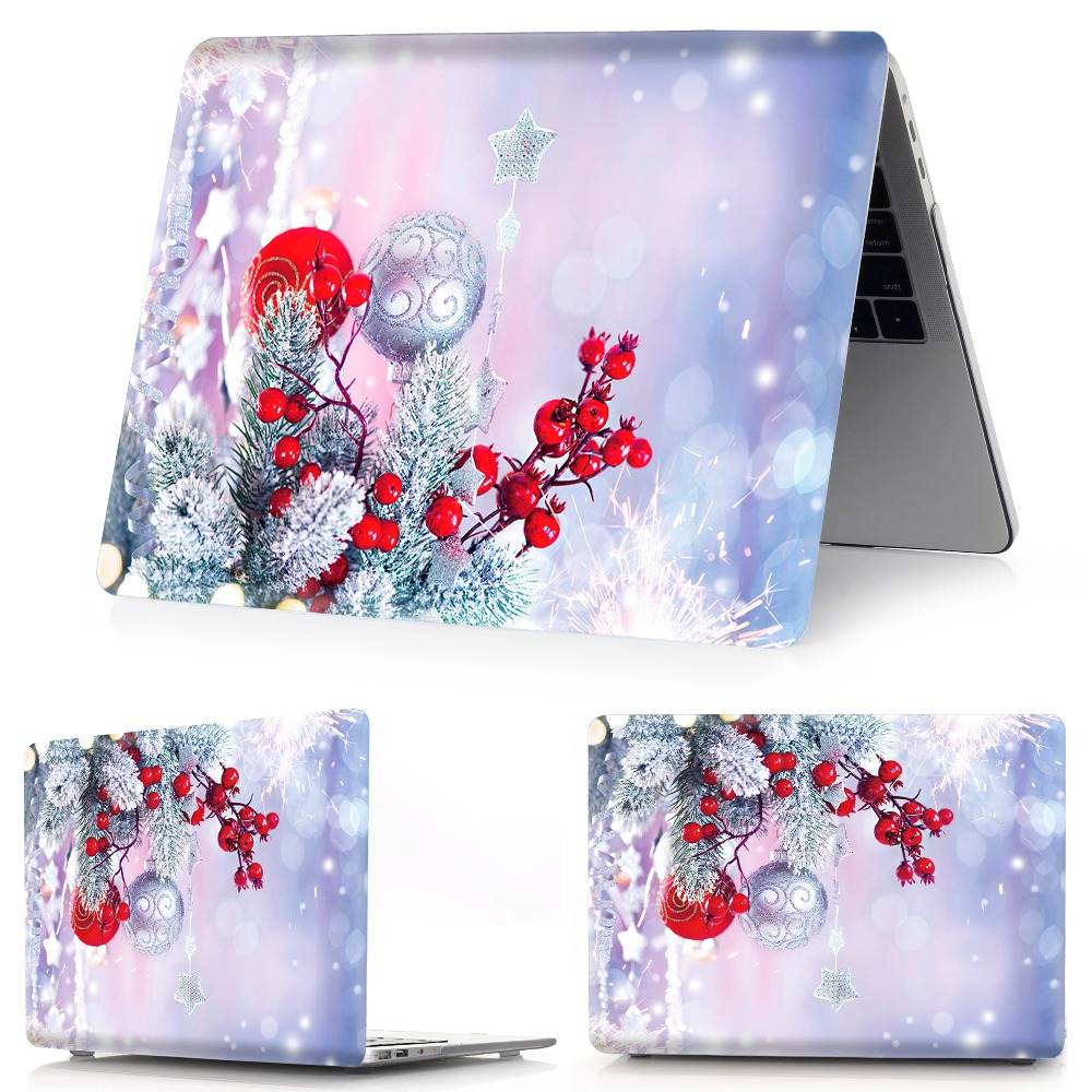 Image 3 - color printing Christmas notebook case for Macbook Air 11 13 Pro Retina 12 13 15 inch Colors Touch Bar New Air 13New Pro 13 15-in Laptop Bags & Cases from Computer & Office