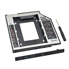 CHIPAL Universal SATA 3.0 2nd HDD Caddy 9.5mm for 2.5″ SSD Case Hard Disk Enclosure with LED for Laptop DVD-ROM Optical Bay