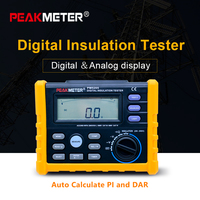 PEAKMETER MS5205 Digital Insulation Resistance Meter 0.01 100G ohm 250V 2500VTester Analogue Megohm Meter