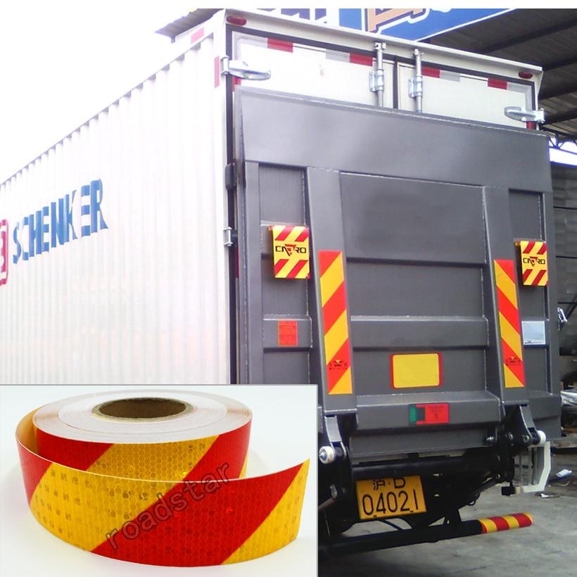 50mm X 50m yansıtıcı lent lentləri Auto Truck Pikap - Avtomobilin xarici aksesuarları - Fotoqrafiya 4