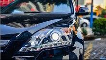 Front LED Headlights Lamp with Angel Eye For Honda CRV 2007-2011