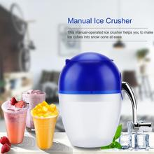 Portable Hand Crank Manual Household Ice Crusher Shaver Snow Cone Maker Machine Kitchen Tool