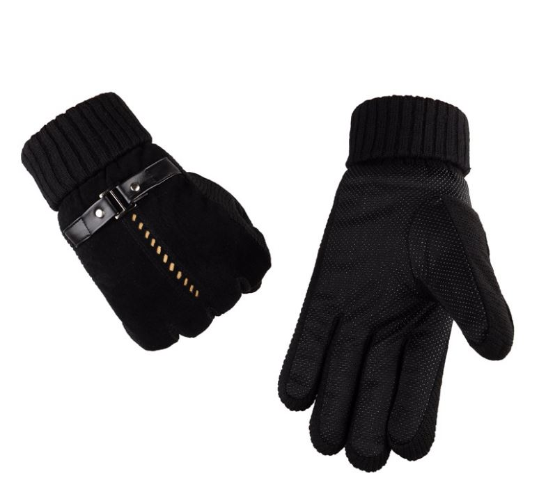 GLV933C Men s leather winter warm font b gloves b font skiing outdoor ride bicycles anti