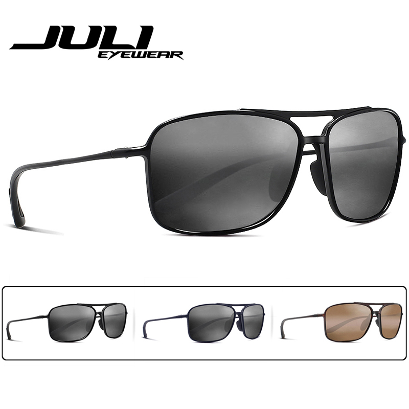 19956d61d4 JULI Polarized Pilot Sports Sunglasses Men Women Tr90 Unbreakable Frame for  Running Fishing Baseball Driving MJ8006-in Sunglasses from Men s Clothing  ...