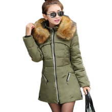 Feminino Casual Coat Abrigos Mujer Winterjas Dames Plus size 4xl Fur Hooded Down Parkas For Women Winter Cheap Jackets Casacos