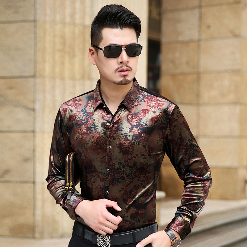 New Arrival Men's Long Sleeve Shirt Male Casual Velvet Brand High Quality Men Dress Shirts For Man Slim Masculina Camisa