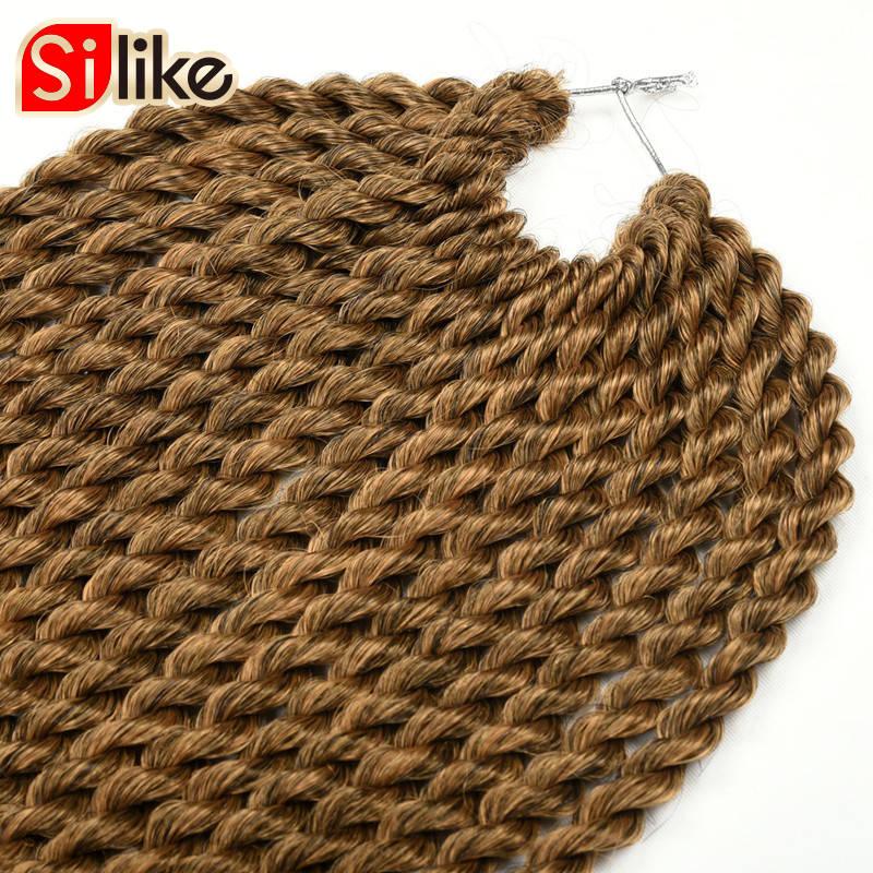 Silike 22 ίντσες Ombre Brown Ροζ Crotchet Πένσες - Συνθετικά μαλλιά - Φωτογραφία 4