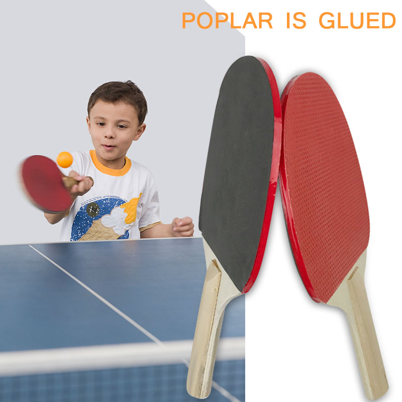 Ping-Pong Racket Wood Pingpong Playground Racquet Colour Game Table Tennis Bat Durable Movement Portable Paddler Play Athletics
