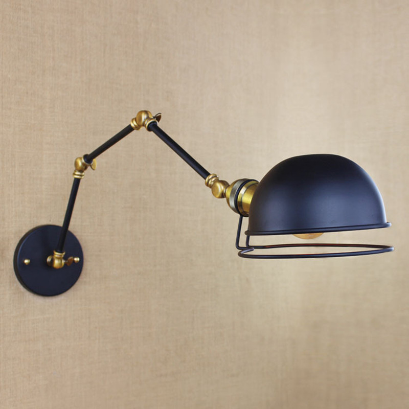 Lights & Lighting Lamps & Shades Helpful American Industrial Creative Iron Cafe Wall Light With Three Swing Mechanical Arm Balcony Decoration Light Free Shipping Professional Design