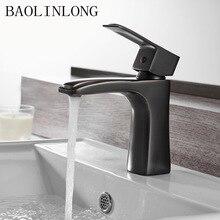 Antique Drawing Basin Brass Bathroom Faucets Tap Vanity Vessel Sinks Deck Mount Mixer Faucet