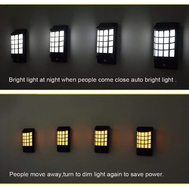 JMKMGL Solar Porch Light,Patio Yard Light,Outdoor Garden Fence Lights Post Lamp Wireless Waterproof Motion Sensor LED Wall Light