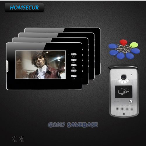 HOMSECUR 7inch Video Door Entry Phone Call System With IR Night Vision For Home Security XC001+XM702-B