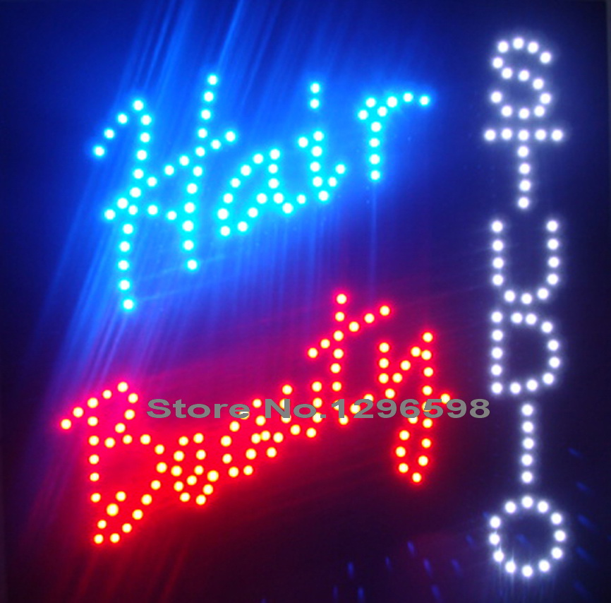 CHENXI Special Offer Hot Sale Graphics 15mm indoor Ultra Bright 19X19 Inch hair beauty studio business shop sign of led