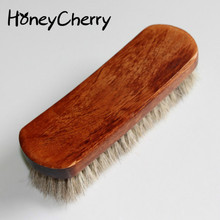 Full Horse Hair Brush, Gray White Hair, Shoe Leather Grease, Polishing, No Skin Damage.