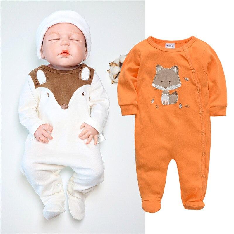 100% Baumwolle Baby Footies Baby Mädchen Jungen Kleidung Unterhemd Langarm Overall Socken Cartoon Neugeborenen Frühling Kid Kleidung Overalls