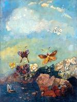 Toile abstraite peinture murale affiches portrait surréalisme art géant affiche photos décor à la maison les Papillons Par Odilon Redon
