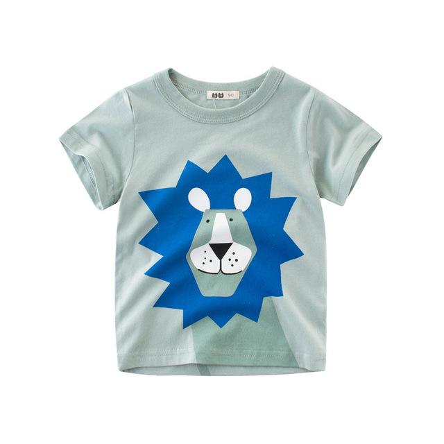 Brand Baby Boy Tops Summer Clothes Boys T-shirt High quality Cotton Animal Printed Clothing Children T shirts Kids Boy Tee Shirt