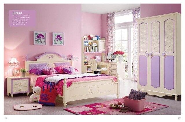 US $1155.0  3313 Children bedroom furniture sets children bed wardrobe desk  chair nightstand-in Children Furniture Sets from Furniture on ...