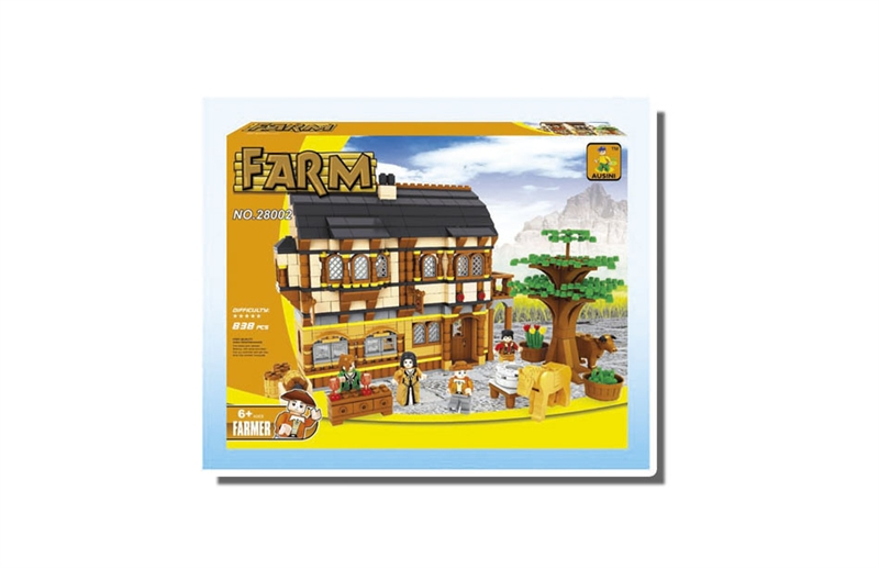 Ausini Model building kits compatible with lego new city farm 838 pcs 3D blocks Educational toys hobbies for children 017 ausini model building kits compatible with lego city train 716 3d blocks educational model