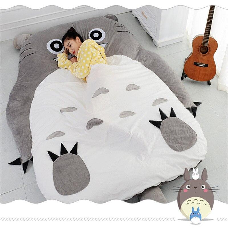 Тоторо Кровать кожи диван матрас татами двойной утолщенной Творческий мультфильм плюшевые игрушки мягкие удобные подарок 1,5*2,0 см