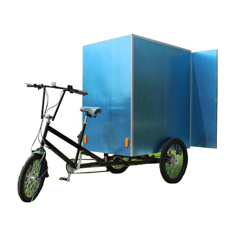 The Street Side Electric Cargo Bike 7 Gear Speeds Tricycle Cargo Bike For Sale