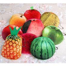 Новые фрукты мешок мини 11*10 см подарок мешок монетки ананас, лимон и т. д. маленький портмоне 8 см ключ крюк бумажник монетки мешок мешок