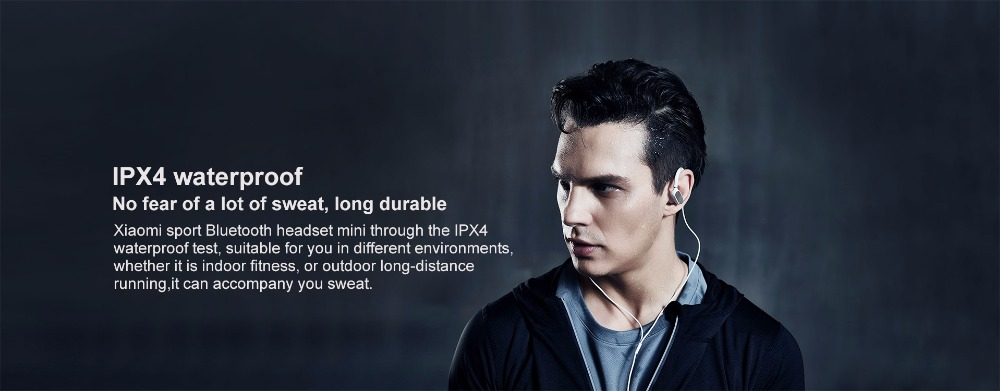 Original Xiaomi Mi Sports Bluetooth mini Headset Earphones Mini Wireless Bluetooth 4.1 Music Sport 5 Earbud IPX4 Sweatproof