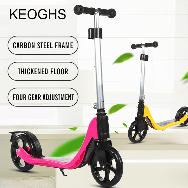 2018 new model adult children kick scooter PU 2wheels bodybuilding all aluminum youngster absorption urban campus transportation