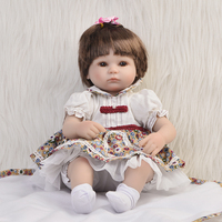 Hot Sale Realistic Baby Dolls Reborn Girl 16 Lifelike Soft Silicone Babies Reborn Baby Doll Toys