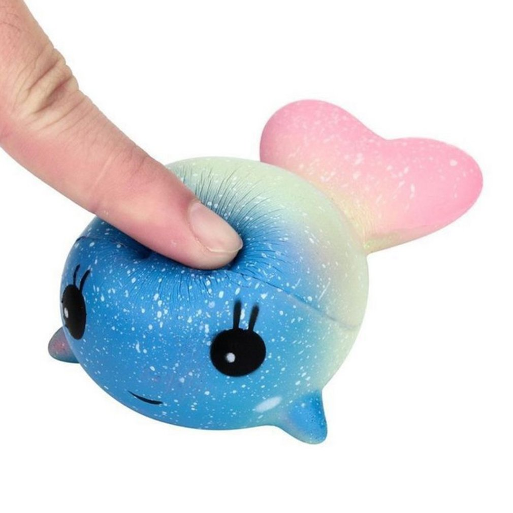 Squishy Toy Colorful Horn Whale Slow Rising Rainbow Squeeze Scented Toys Anti Stress Kids Adult Stress Reliever Toys Kids Gift