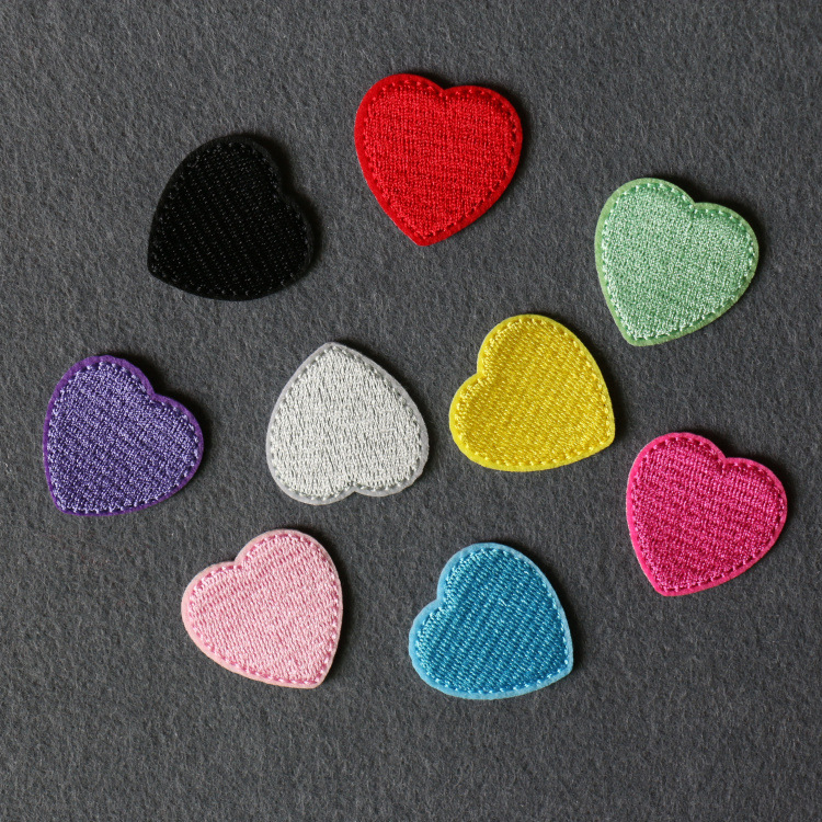 Home & Garden Nice New Embroidered Large Crown Red Hand-sewing Color Heart Embroidery Patch Embroidery Clothing Repair Hole Heart Applique Consumers First Patches