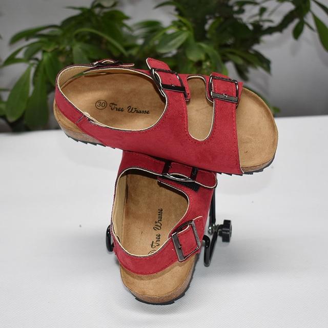 Дерево Рыба Дети сандалии 2017 новые летние дети мальчики и девушки корк обувь отдых слово перетащить прилив пляж double ring сандалии