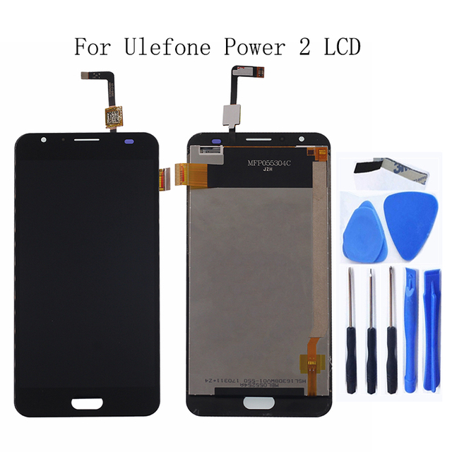"5.5"" for Ulefone Power 2 LCD Touch Glass Panel Digitizer Kit for Ulefone Power 2 LCD Smartphone Repair Kit + Free shipping"