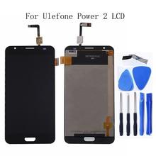 "5,5 ""para Ulefone Power 2 táctil LCD DE Panel de vidrio digitalizador Kit para Ulefone Power 2 LCD Smartphone Kit de reparación + envío gratis"