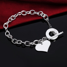 Charms Heart Beautiful Silver Plated Fashion Bracelet Jewelry