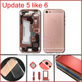 New Arrival 6 mini Housing for iphone 5 Back Housing full assembled Upgrade Housing Rose Gold Black Pink Color Free TPU case
