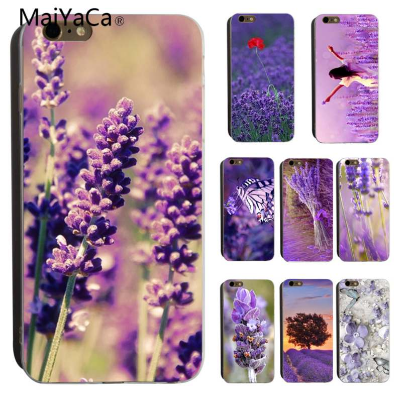 MaiYaCa Lavender Rubber Cover Case For <font><b>iPhone</b></font> 6 6S 7 <font><b>7plus</b></font> 8 8Plus 5 5S for <font><b>iPhone</b></font> X Transparent <font><b>phonecase</b></font> image