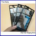 Original oriente moldura quadro LCD placa capa para Sony Xperia Z3 dupla D6633 caso da habitação com Micro carregamento porto poeira Plug
