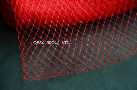 Новая птичья клетка материал для millinery sinamay шляпа церковная Шляпа Чародей, 10 ярдов/партия, серебряный цвет - Цвет: red