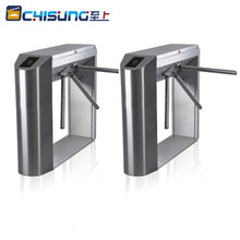 China high quality Bridge house full automatic tripod turnstile rfid card reader security turnstile gate