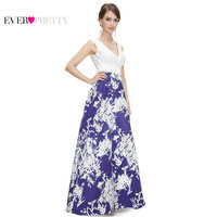Prom Dresses Ever Pretty New Arrival HE08389 Women S Sexy V Neck Ruched Long Blue Prom