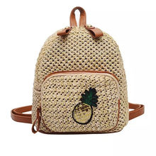 New Women woven Backpack School Rattan bag Student School Bags For Teenage Girls summer beach bag travel mini backpack sac a dos недорого
