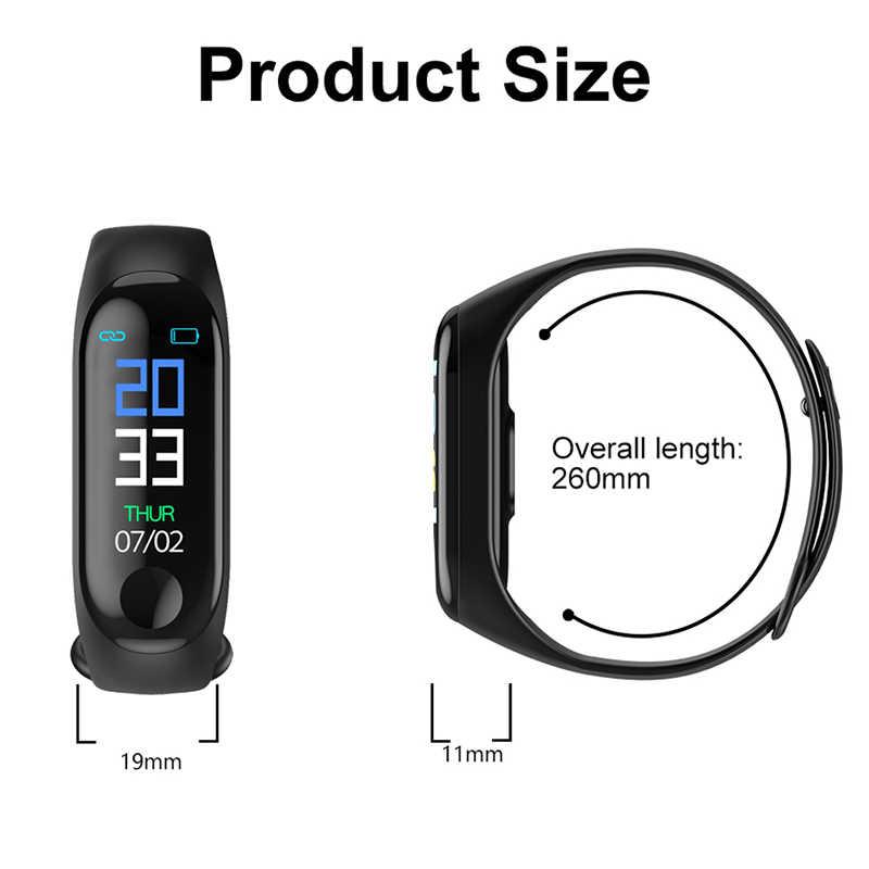 M3 Smartband Fitness Tracker Smart Armband Bloeddruk Hartslagmeter Waterdicht Smart Band Pro Polsbandje Slimme Band