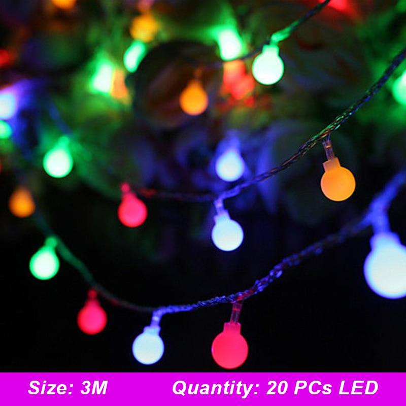 Fairy String Light USB 20LED 3.0M Round Ball Outdoor Garden Xmas Decor Festival Yard Landscape Lamp Wedding Fairy Light