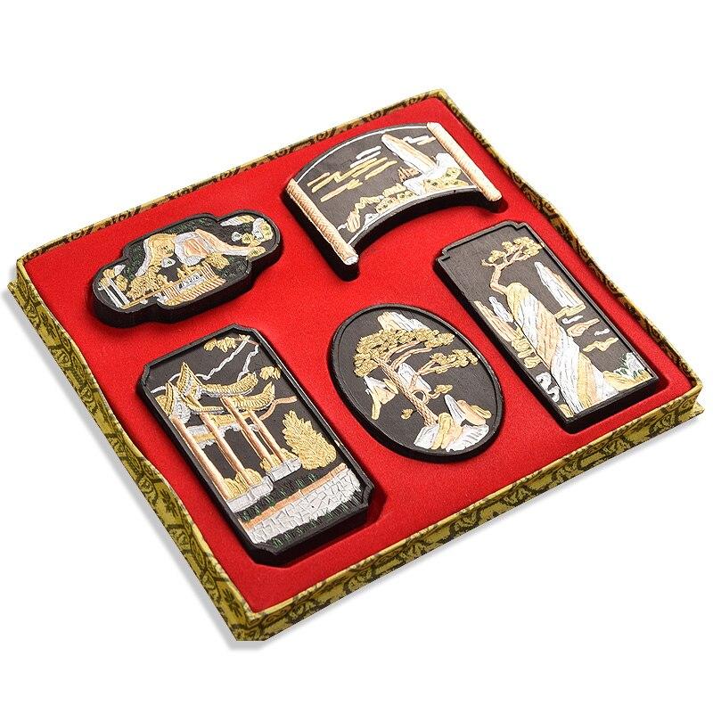Exquisito Hui tinta de pintura tradicional china de tinta de caligrafía escritura dibujo Inker tinta Colección Caja de regalo