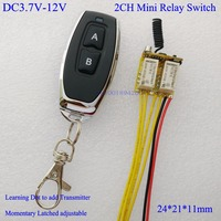 DC 3 7V 4 5V 5V 6V 7 4V 9V 12V Mini 2CH Relay Remote Switch