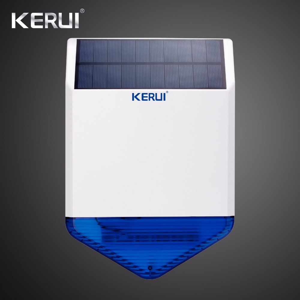 KERUI Solar-Siren Alarm-System Strobe Outdoor Wireless Security SJ1 For GSM Waterproof